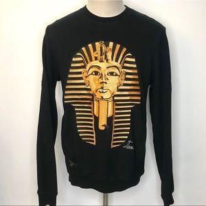 10 Deep Golden Boy CrewNeck Design & Embroidery L